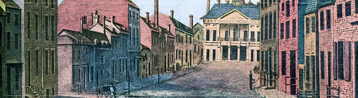 View of Broad Street, NYC 1789